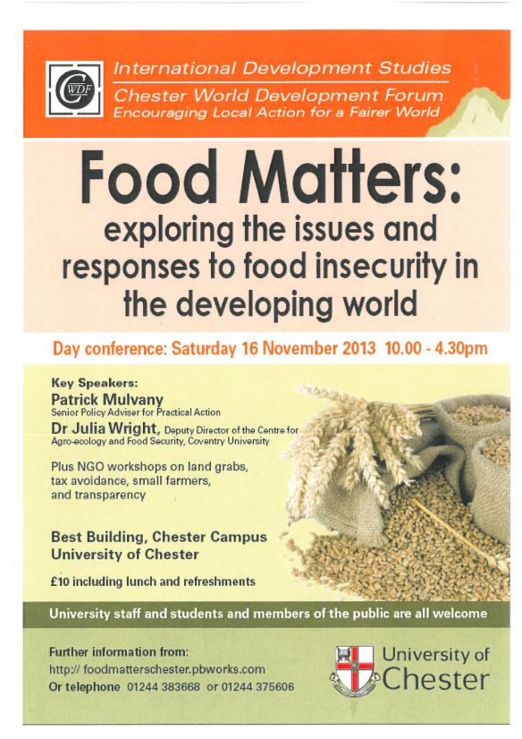 """Food Matters"" Conference Poster"