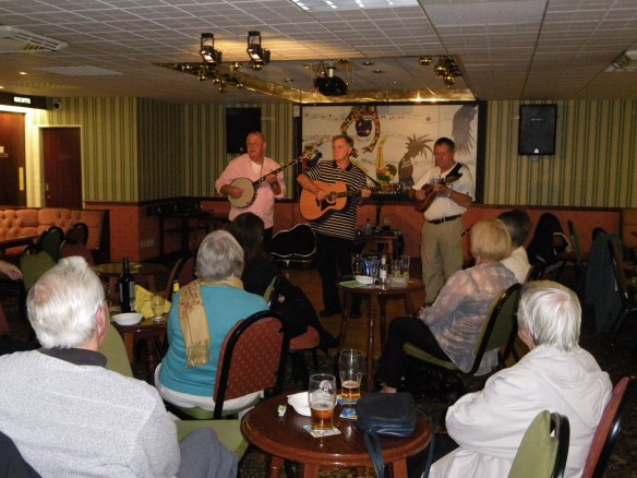The Hometowners entertain the CAFOD crowd