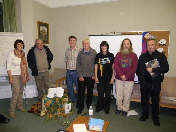 Some of the CAT Communicators with Ged Edwards, CAFOD Salford Diocesan Manager