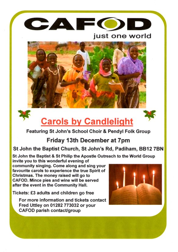 Carols by Candlelight for CAFOD in Padiham