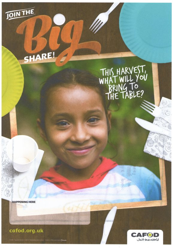"CAFOD's ""Big Share"" for Harvest Fast Day & October"