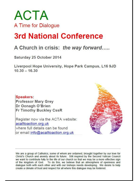ACTA 3rd National Conference Poster