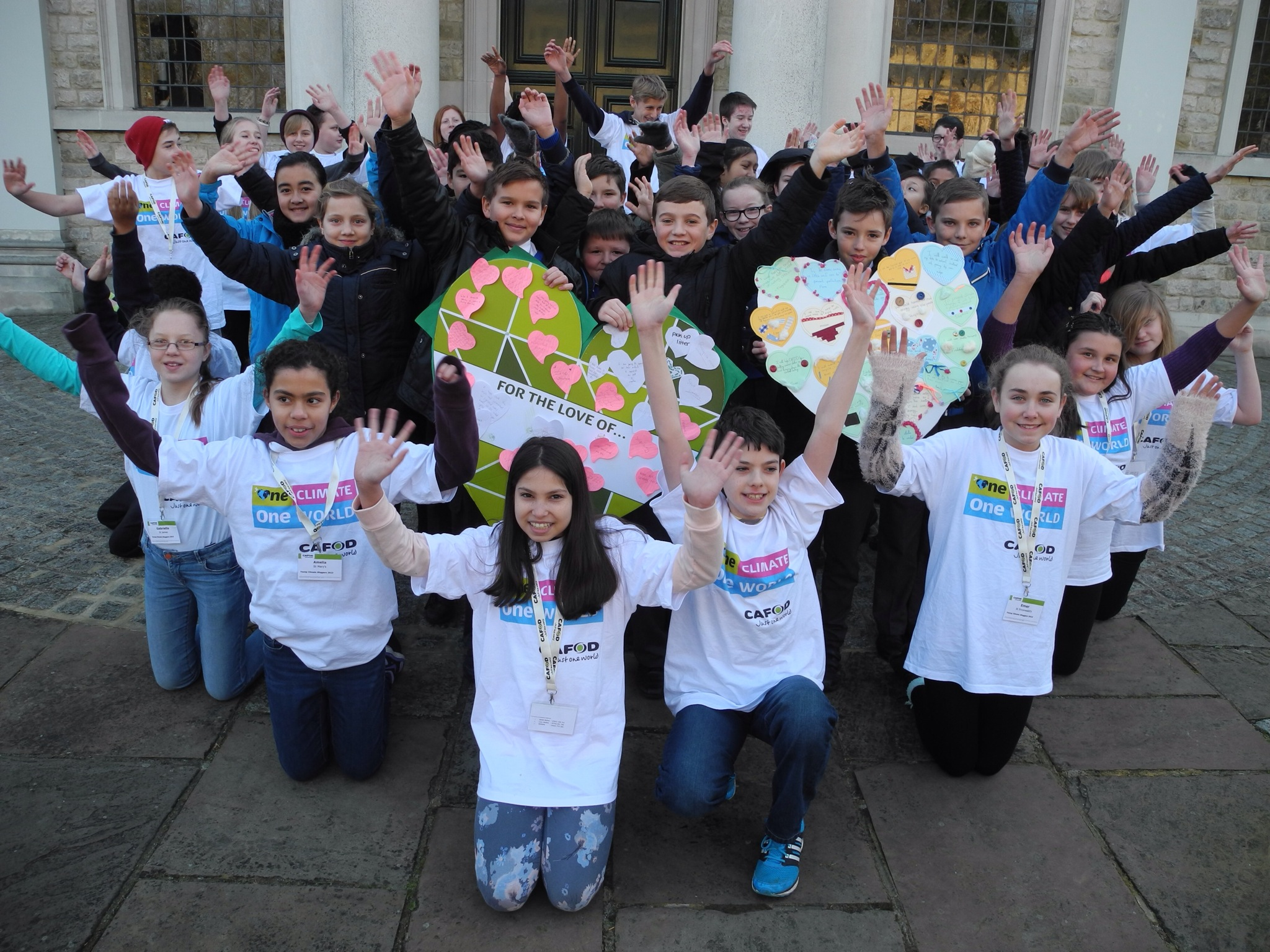 Young CAFOD supporters launch One Climate, One World campaign for schools at Brentwood Cathedral