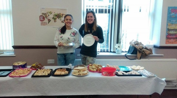 Leila Bousbaa and Stephanie Beech fundraised for Harvest Fast Day