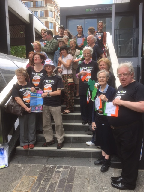 CAFOD Salford campaigners gather in London