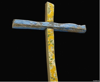 Refugee weathered cross