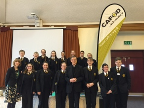 St Thomas More students with Bishop John
