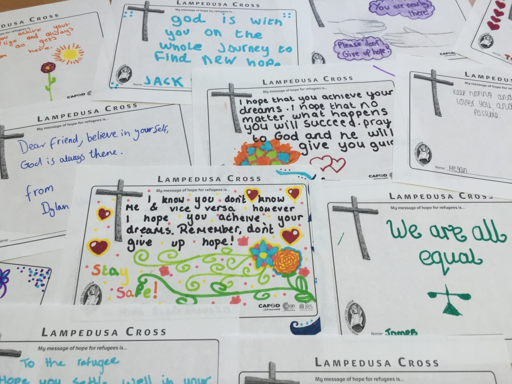 Messages of hope to refugees