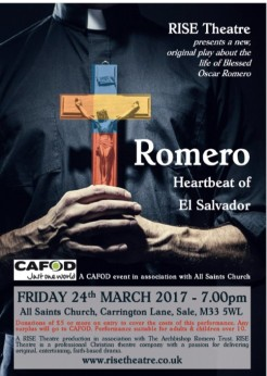 Poster for Romero play